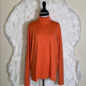 Nike Golf Orange  1/2-Zip Key Cover Up Shirt